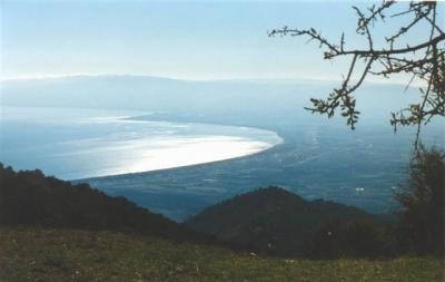Piana di Sibari vista dal Monte Sparviere