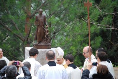 Scopertura statua San Orione