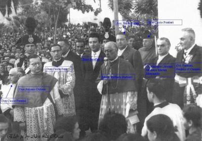 1954 Inaugurazione della Stele Mariana