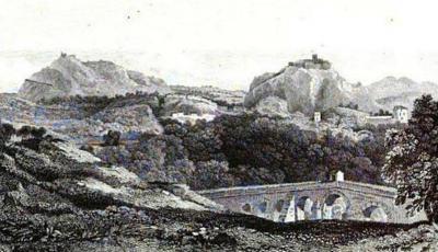 Veduta di Cassano del 1820 ca.