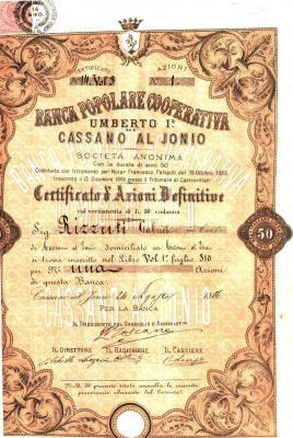 Banca Popolare Umberto I° di Cassano