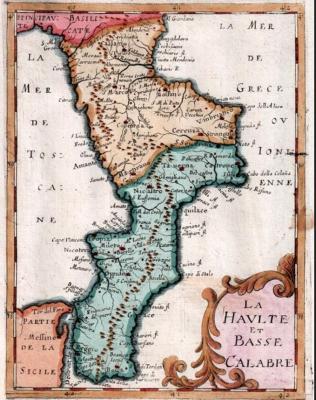 Mappa della Calabria del 1649