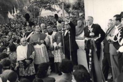 Il Ministro Gennaro Cassiani a Cassano nel 1955
