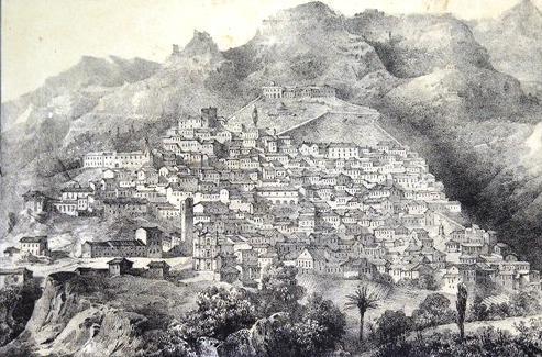Cassano in una stampa del 1853
