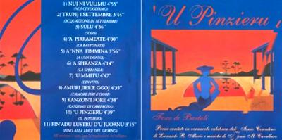 Copertina del CD 'U Pinzieru di Fosco di Bartuli
